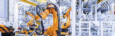 banner com máquinas industriais